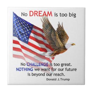Flag & Eagle Donald J Trump Quote Tile