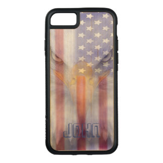 Flag | Faded Eagle | Pesonalized Carved iPhone 8/7 Case