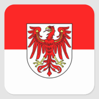Flag - Fahne - Flagge - Germany - Brandenburg Square Sticker