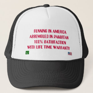FLAG, FLAGUSA,    RUNNING IN AMERICA ASSEMBLED ... TRUCKER HAT