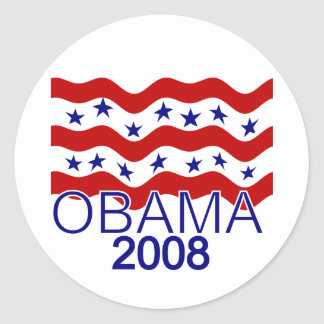 Flag Flying Obama 2008 Sticker
