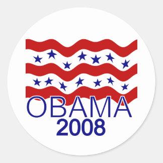 Flag Flying Obama 2008 Sticker