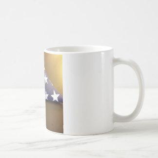 Flag for a fallen hero - blue and white stars coffee mug