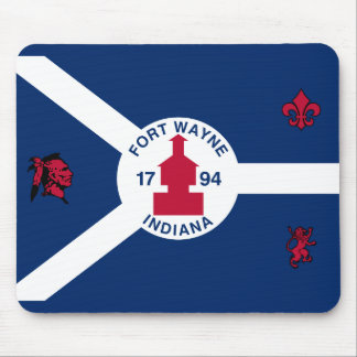 Flag Fort Wayne, Indiana Mouse Pad
