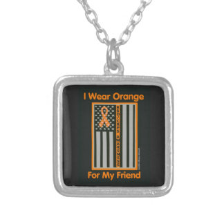 Flag/Friend...RSD/CRPS Silver Plated Necklace