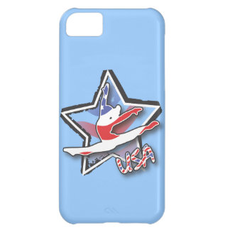 Flag Gymnast Cover For iPhone 5C