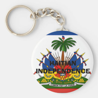 flag-Haiti-detail-lg, HAITIAN INDEPENDENCE Basic Round Button Keychain