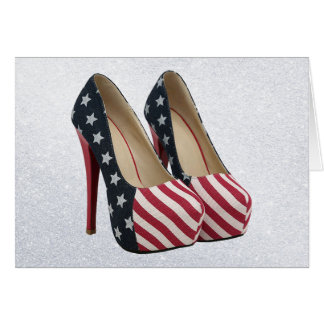 FLAG HIGH HEEL SHOES CARD