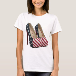 FLAG HIGH HEEL SHOES T SHIRT