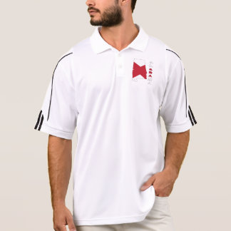 Flag in Map of Alabama Polo Shirt