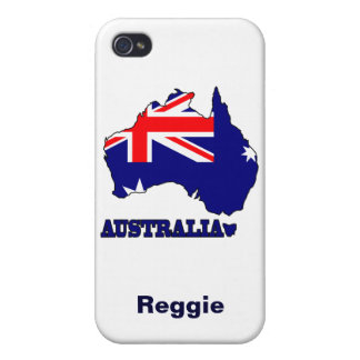 Flag in Map of Australia iPhone 4/4S Cover