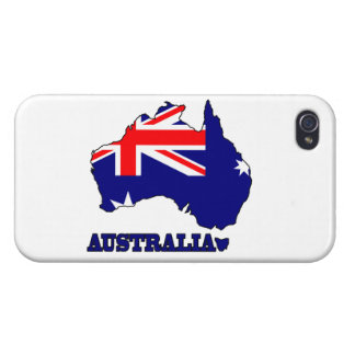 Flag in Map of Australia iPhone 4 Cover