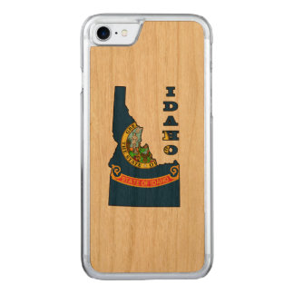 Flag in Map of Idaho Carved iPhone 8/7 Case