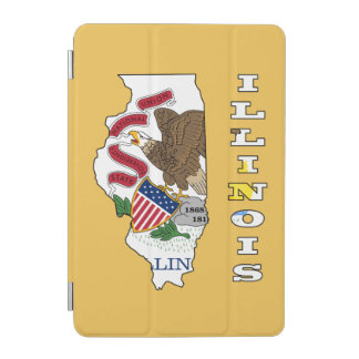 Flag in map of Illinois iPad Mini Cover
