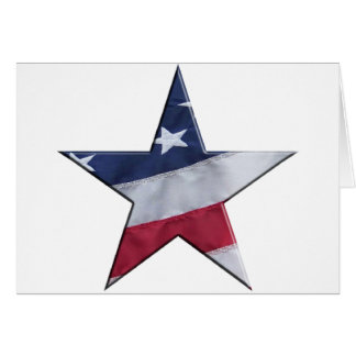 Flag in star card