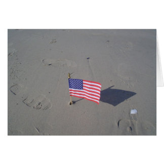 Flag in the Sand Card