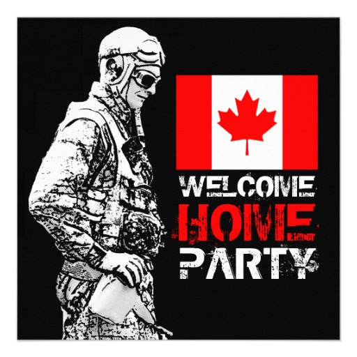 Flag Insert Welcome Home Soldier Party Invitation