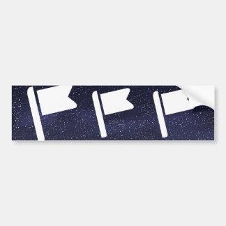 Flag Inserts Graphic Bumper Sticker