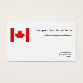 Flag international business business card