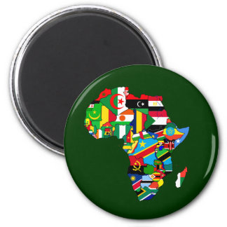 Flag Map of Africa Flags - African Culture Gift Magnet