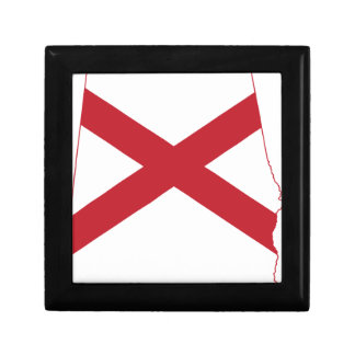 Flag Map Of Alabama Gift Box