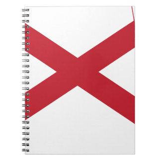 Flag Map Of Alabama Notebooks