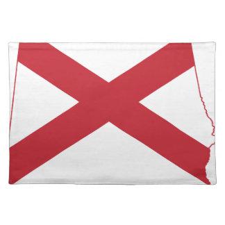 Flag Map Of Alabama Placemat