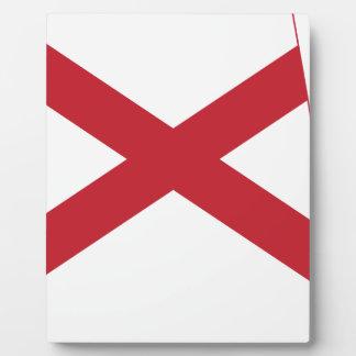 Flag Map Of Alabama Plaque