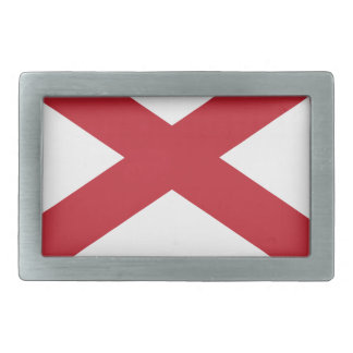 Flag Map Of Alabama Rectangular Belt Buckle
