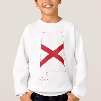 Flag Map Of Alabama Sweatshirt