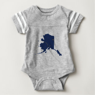 Flag Map Of Alaska Baby Bodysuit