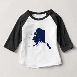 Flag Map Of Alaska Baby T-Shirt