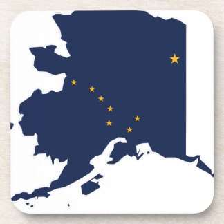 Flag Map Of Alaska Coaster