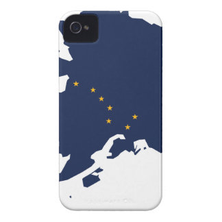 Flag Map Of Alaska iPhone 4 Case-Mate Case