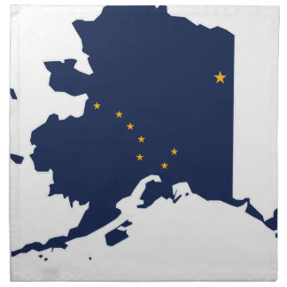Flag Map Of Alaska Napkin