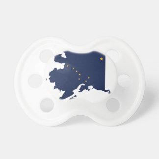 Flag Map Of Alaska Pacifier