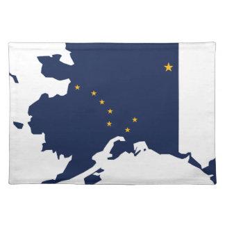 Flag Map Of Alaska Placemat