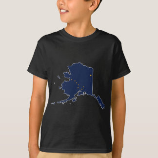 Flag Map Of Alaska T-Shirt