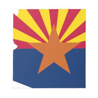 Flag Map Of Arizona Notepad