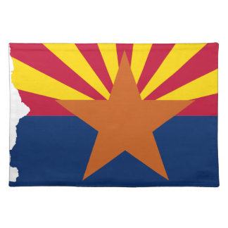 Flag Map Of Arizona Placemat