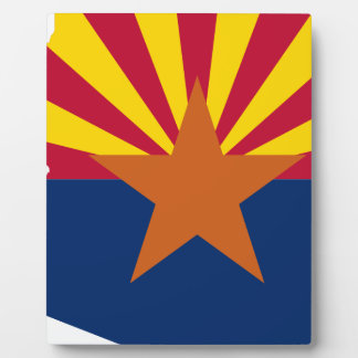 Flag Map Of Arizona Plaque