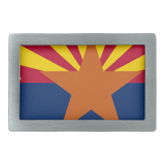 Flag Map Of Arizona Rectangular Belt Buckles