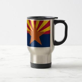 Flag Map Of Arizona Travel Mug
