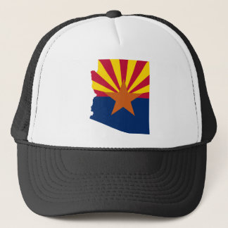 Flag Map Of Arizona Trucker Hat