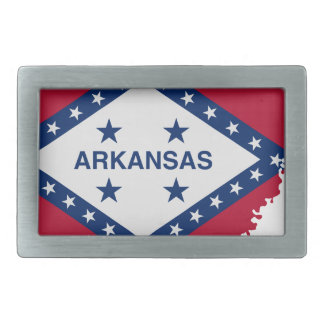 Flag Map Of Arkansas Belt Buckle
