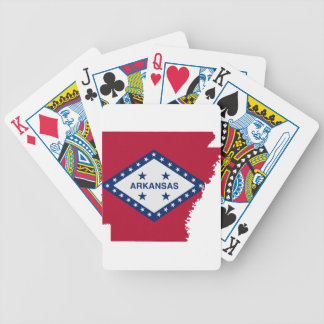 Flag Map Of Arkansas Bicycle Playing Cards