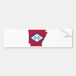 Flag Map Of Arkansas Bumper Sticker