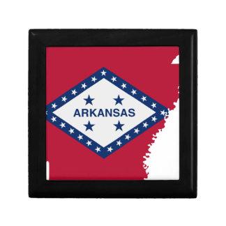 Flag Map Of Arkansas Gift Box