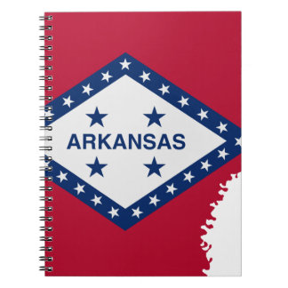 Flag Map Of Arkansas Notebook