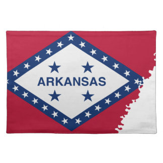 Flag Map Of Arkansas Placemat